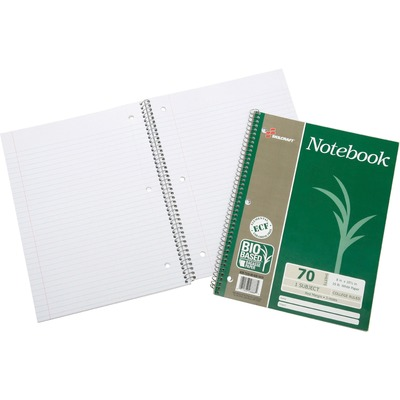 AbilityOne 6002019 Bagasse Paper Single-subject Notebook