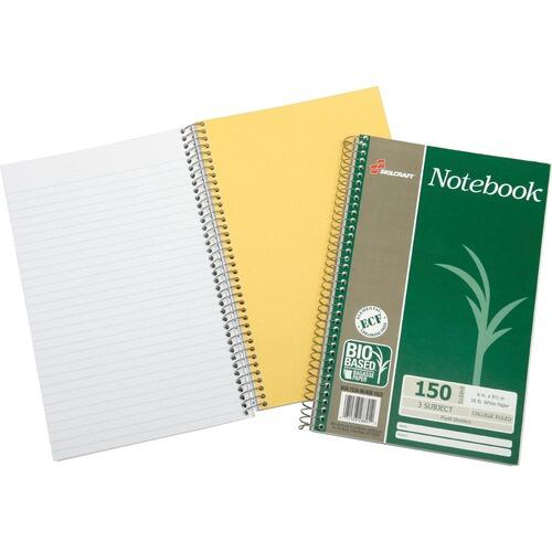 AbilityOne 6002023 3-Subject Coll. Ruled Wirebound Notebook