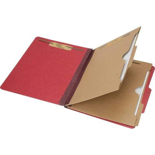 AbilityOne 6006972 Pocket Style 6-part Letter Classification Folders
