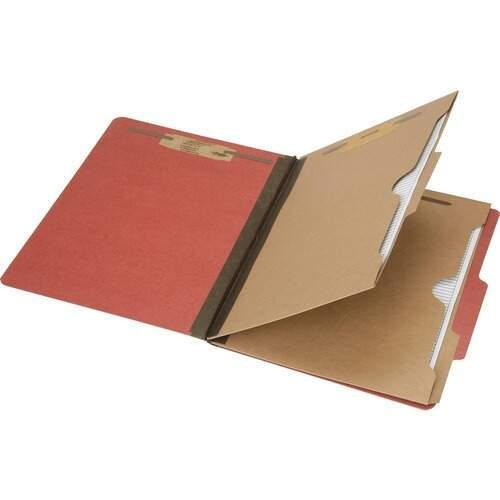 AbilityOne 6006979 Pocket Style 6-part Letter Classification Folders