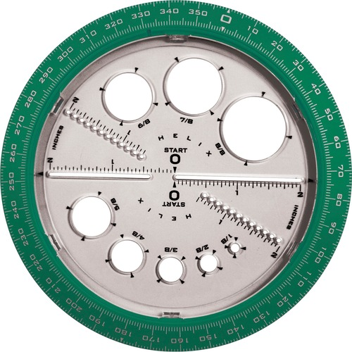 Helix 36002 Angle and Circle Protractor