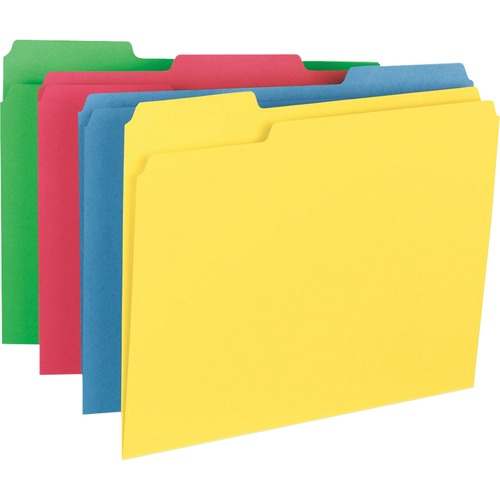 Business Source 16517 Heavyweight Assorted Color File Folder