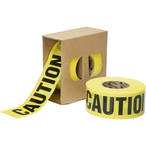 AbilityOne 6134243 3 mil CAUTION Barricade Tape