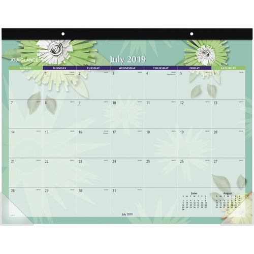 AT-A-GLANCE 5035A Paper Flowers Calendar Desk Pad