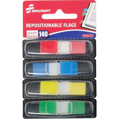 AbilityOne 6200283 Self-stick Repositionable Color Flags
