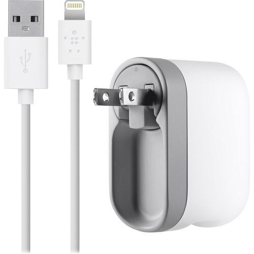 Belkin F8J03204WHT AC Swivel Lightning Cable iPhone 5 Charger
