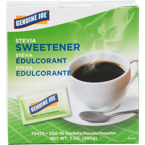Genuine Joe 70472 Stevia Natural Sweetener Packets