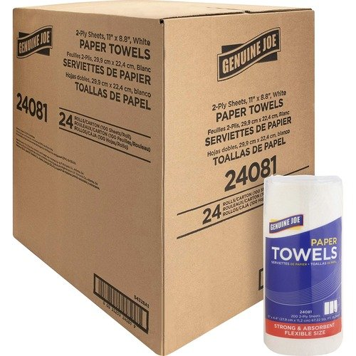 Genuine Joe 24081 2-ply Household Roll Paper Towels
