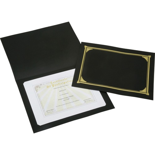 AbilityOne 5195770 Gold Foil Cover Document Holders