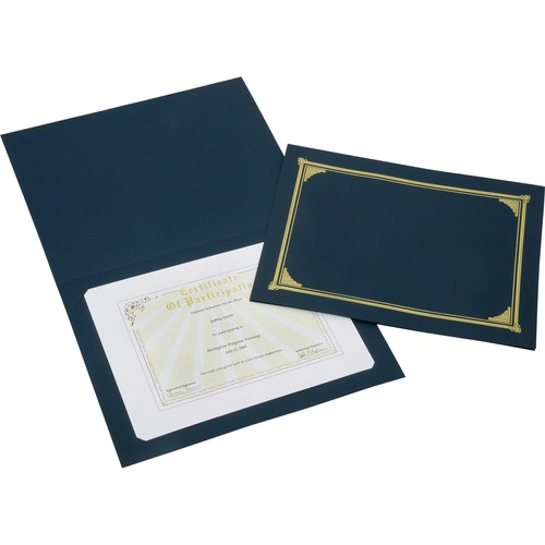 AbilityOne 5195771 Gold Foil Cover Document Holders