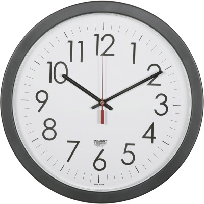 "AbilityOne 6237483 14.5"" Round Workstation Wall Clock"