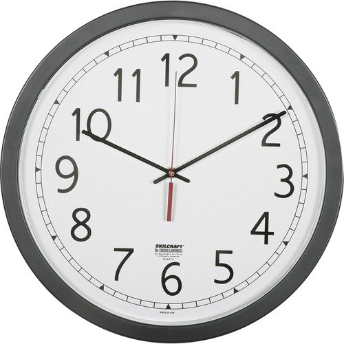 "AbilityOne 6238824 16.5"" Round Workstation Wall Clocks"