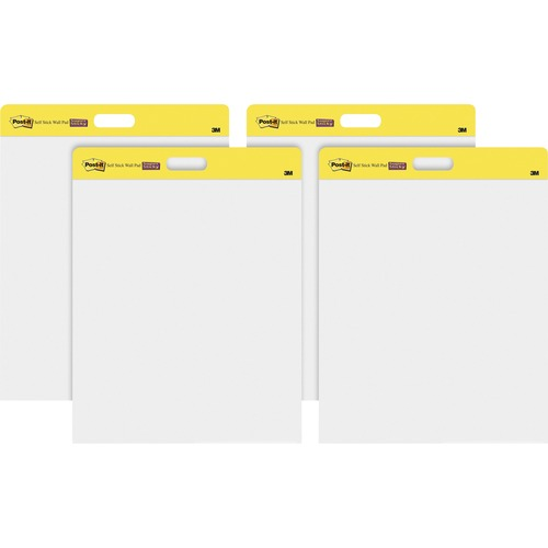 Post-it 566CT Self-Stick Plain White Paper Wall Pad