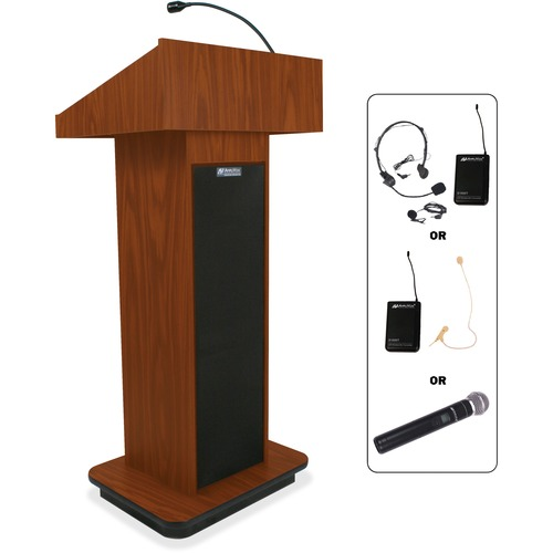 AmpliVox SW505 Wireless Executive Sound Column Lectern