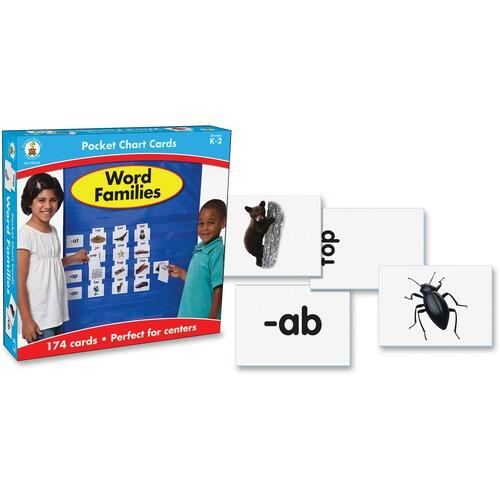 Carson-Dellosa 158152 Gr K-2 Word Families Pocket Chart Cards Set
