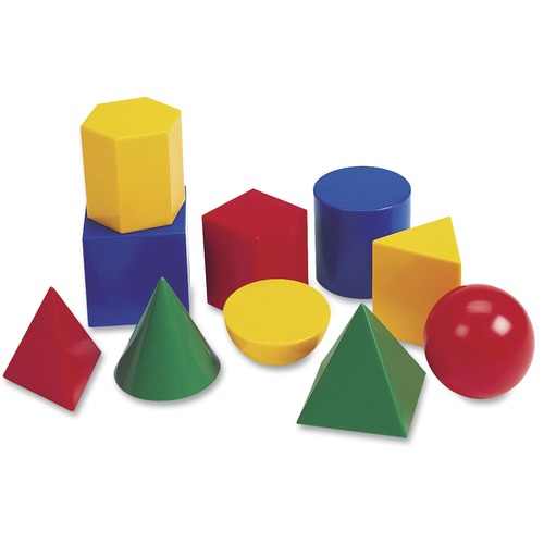 "Learning Resources 0922 Large 3"" Geometric Shapes Set"