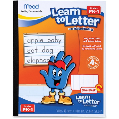 Mead 48122 Learn To Letter Writing Book