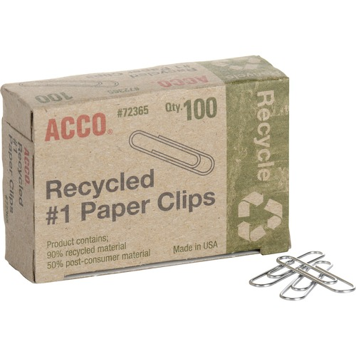 Acco 72365PK Recycled Paper Clips