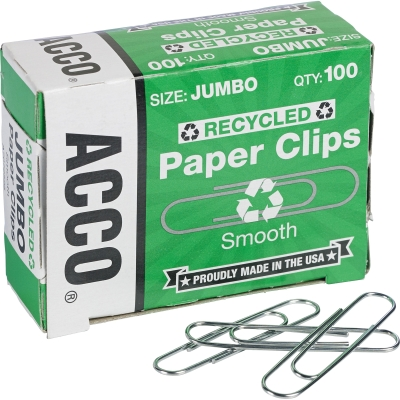 Acco 72525PK Recycled Paper Clips