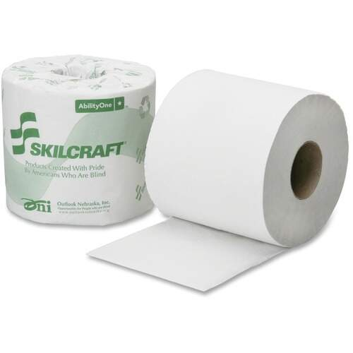 AbilityOne 6308728 1-Ply PCF Individual Toilet Tissue Rolls