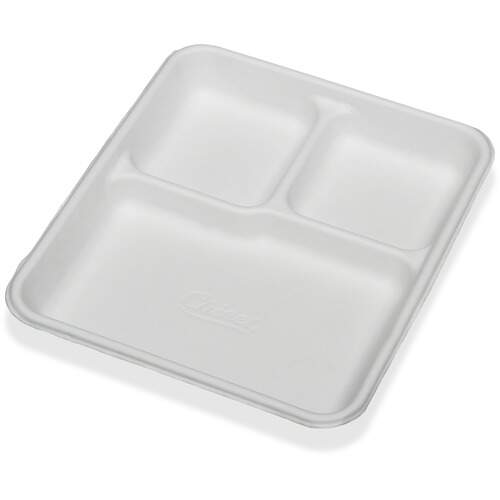 AbilityOne 9269233 3 Compartment Disposable Plates