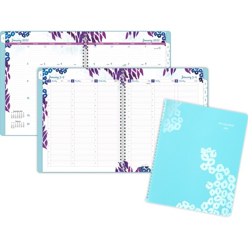 AT-A-GLANCE 523905 Wild Washes Weekly/Monthly Planner