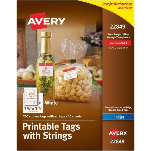 Avery 22849 Printable Tags with Strings