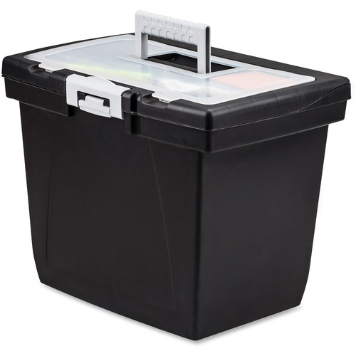 Storex 61522B04C Nesting Portable File Box