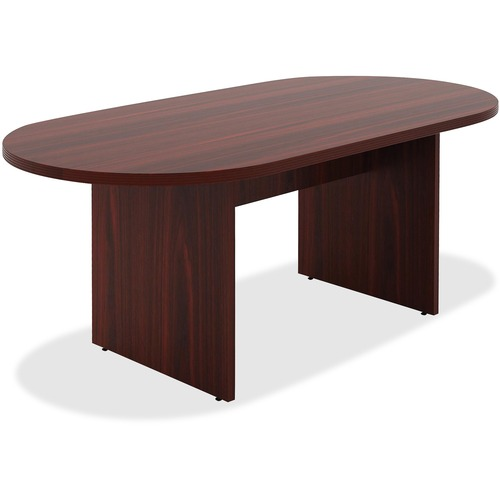 Lorell 34336 Chateau Series Mahogany 6' Oval Conference Table
