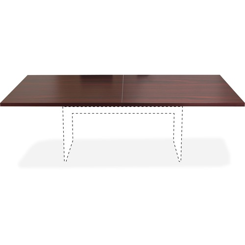 Lorell 34338 Chateau Series Mahogany 8' Rectangular Tabletop