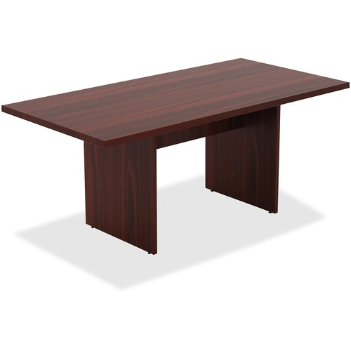 Lorell 34340 Chateau Series Mahogany 6' Rectangular Table