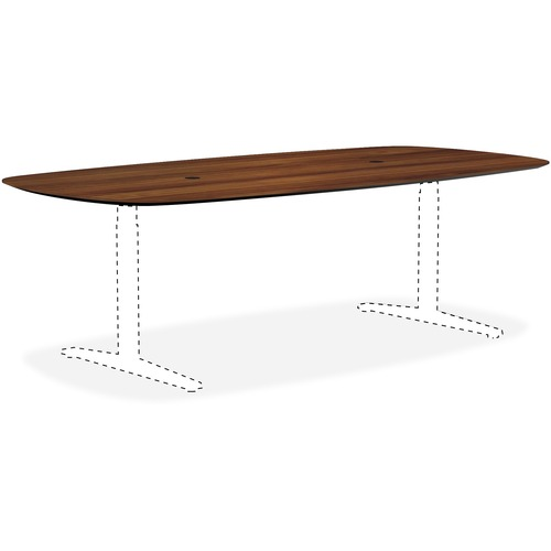 Lorell 59587 Knife Edge Walnut Rectangular Conference Tabletop