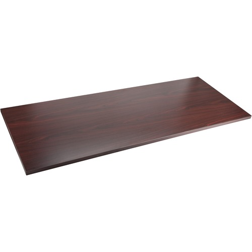 Lorell 59603 Quadro Sit/Stand Straight Edge Mahogany Tabletop