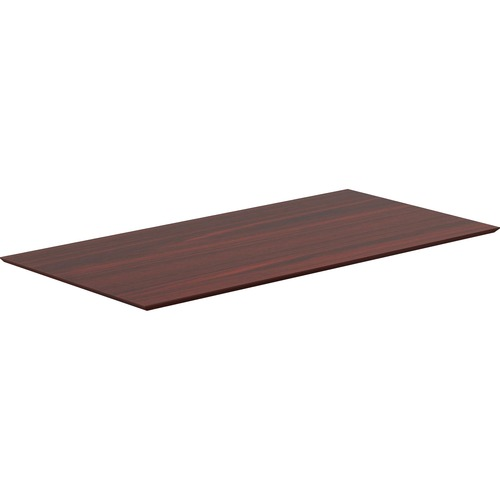 Lorell 59609 Electric Height-Adjustable Mahogany Knife Edge Tabletop