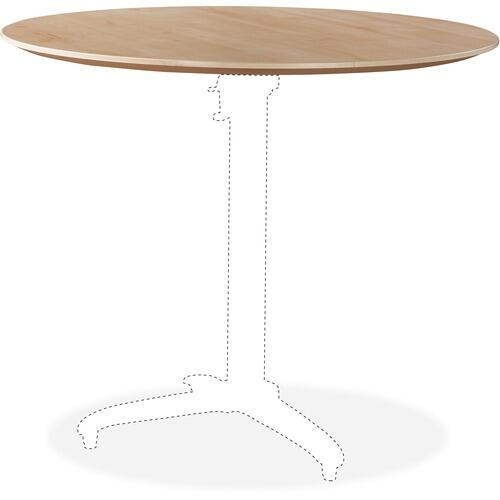 Lorell 59619 Foldable Hospitality Table Maple Tabletop