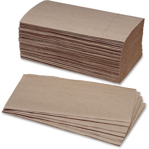 AbilityOne 2627178 Single Fold Kraft Paper Towels