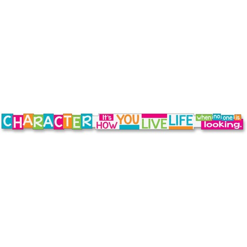 TREND 25202 Character It's How You Live Message Banner