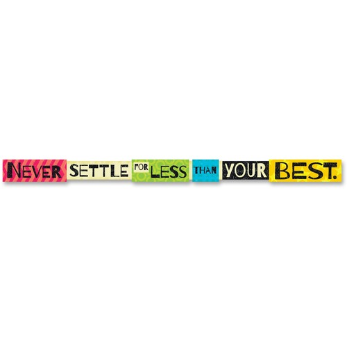 TREND 25212 Never Settle For Less Than Your Best Banner