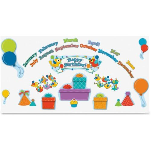 Carson-Dellosa 110235 Boho Birds Birthday Bulletin Board Set