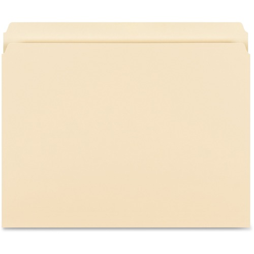 Business Source 16518 Straight-Cut 1-ply Tab Heavyweight File Folders