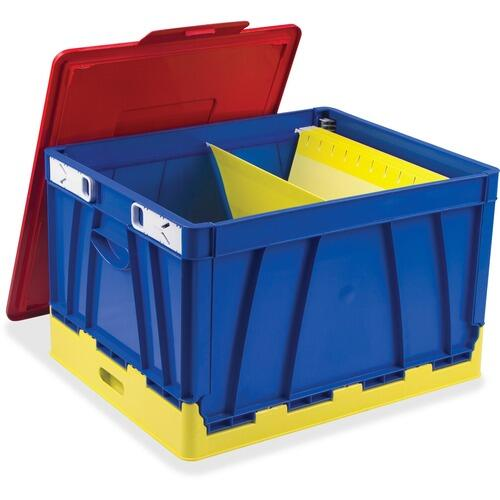 Storex 61818E04C 4 Piece Collapsible Crates