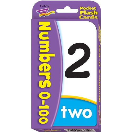 TREND 23040 Numbers 0-100 Pocket Flash Cards