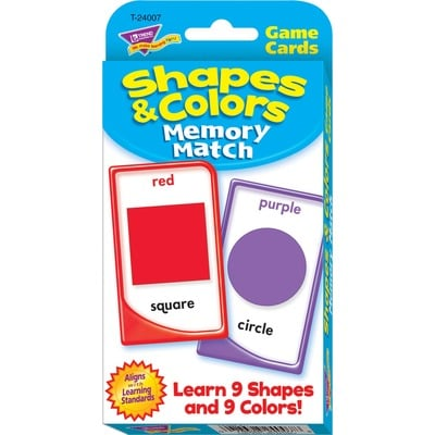 TREND 24007 Shapes & Colors Memory Match Challenge Cards