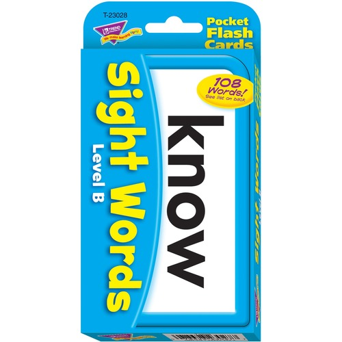 TREND 23028 Sight Words - Level B Pocket Flash Cards