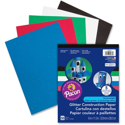 Pacon 1000083 Glitter Construction Paper Pad