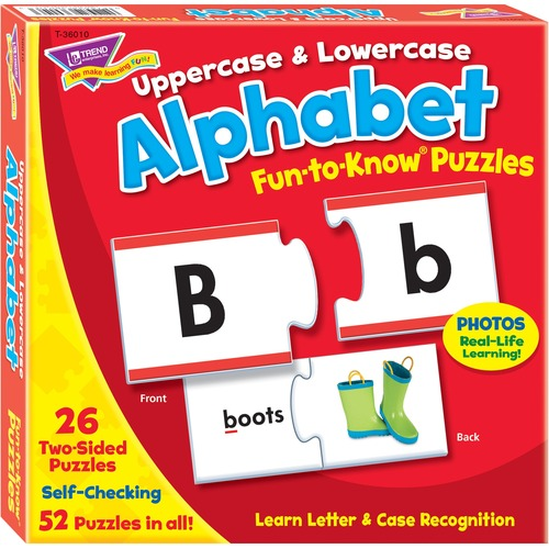 TREND 36010 Uppercase & Lowercase Alphabet Fun-to-Know Puzzles