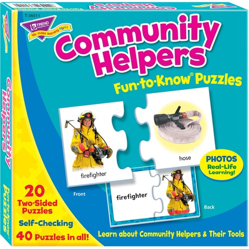 TREND 36011 Community Helpers Fun-to-Know Puzzles