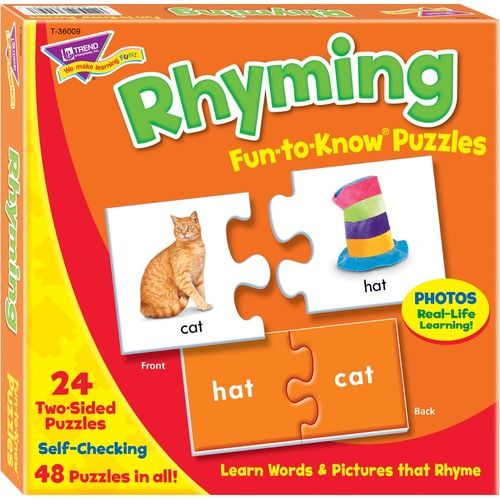 TREND 36009 Rhyming Fun-to-Know Puzzles