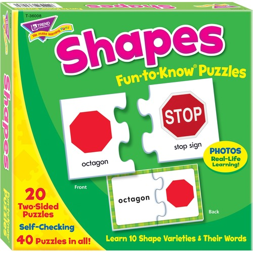 TREND 36008 Shapes Fun-to-Know Puzzles