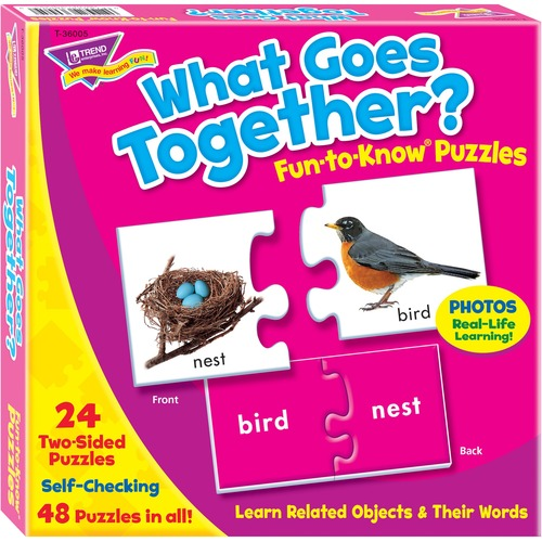 TREND 36005 What Goes Together Fun-to-Know Puzzles